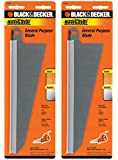 Black & Decker SC500 Handsaw Replacement (2 Pack) 74-591 Large Wood Cutting Blade# 74-591-2pk