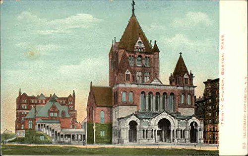 Trinity Church Boston, Massachusetts Original Vintage Postcard