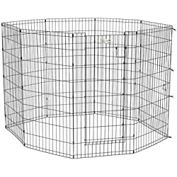 "Life Stages Exercise Indoor Outdoor Pet Dog Yard Pen With Door 24"""" x 24"""" 8 panels , ,Home, garden & living