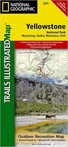 Yellowstone National Park Boundaries Map on