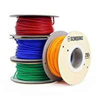 Gizmo Dorks PLA Filament for 3D Printers 1.75mm 200g, 4 Color Pack - Blue, Green, Orange, Red from Gizmo Dorks