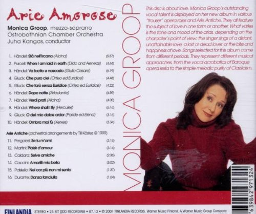 Monica Groop (mezzo-soprano) - Arie Amorose (Baroque Arias and Songs)