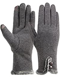 Women's Touch Screen Gloves Warm Lined Thick Winter Gloves