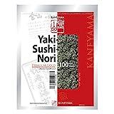 Kaneyama Yaki Sushi Nori / Dried Seaweed (Vacuum-packed/re-sealable), Premium Gold Grade (Half Size 100 Sheets 1 Pack)