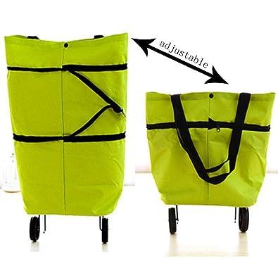 fb9410b37f14 Weardear Rolling Bag Cart, Folding Shopping Bag ... - Amazon.com