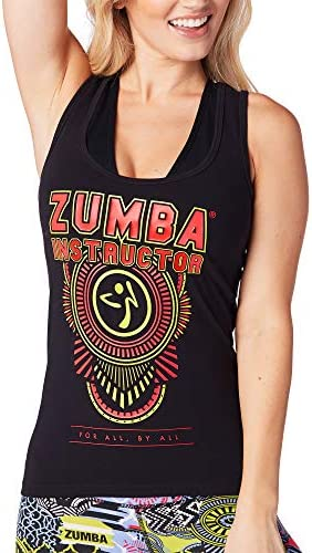 XX-Large Blue Zumba Athletic Graphic Design Dance Workout Racerback Tank Top