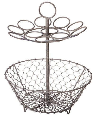 Red Co. Vintage Aged Coffee Pod Capsule Holder, Storage Rack Basket Organizer, Large, 12 Inch by Red Co.