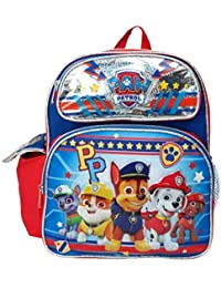 "Small Backpack - Paw Patrol - Boys Team PP Silver 12"" School Bag 116118"