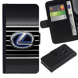 UNIQCASE - Samsung Galaxy S3 MINI NOT REGULAR! I8190 I8190N - Lexus L LS - Cuero PU Delgado caso cubierta Shell Armor Funda Case Cover