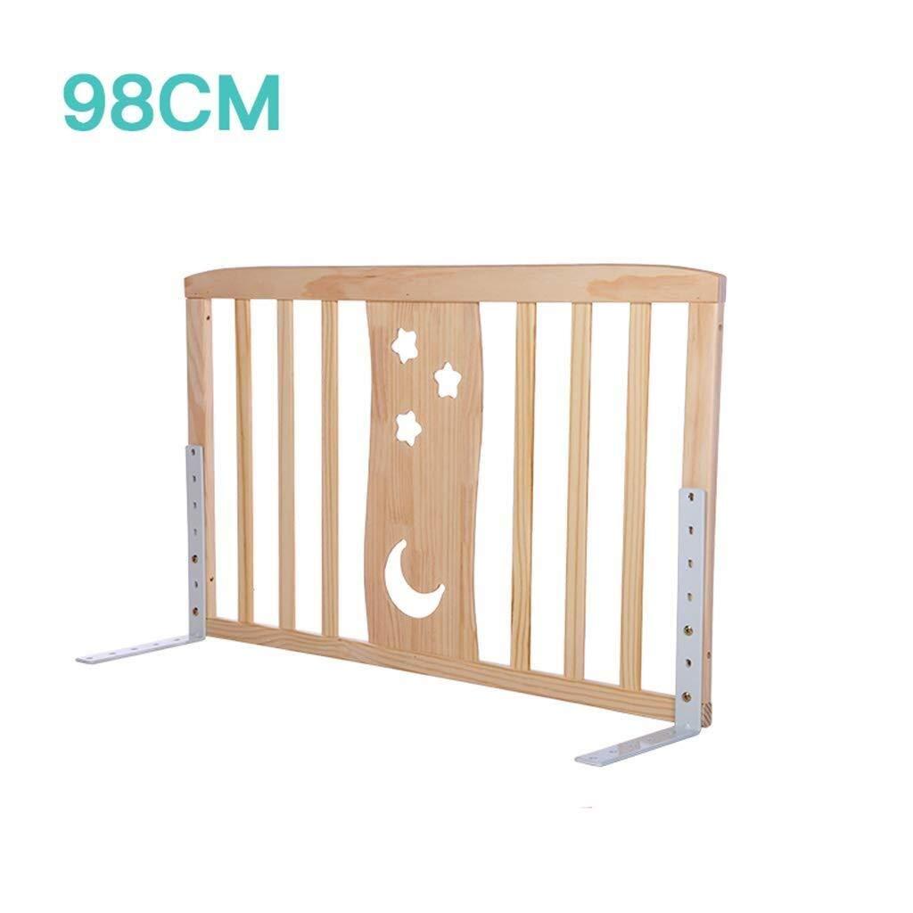 MUMA 木製ベッドレール、キングベッドユニバーサルベッドフェンスベビードロップ保護バー垂直リフトベッドサイドガードレール高76センチ (Size : 98cm) 98  B07TFNTD7T