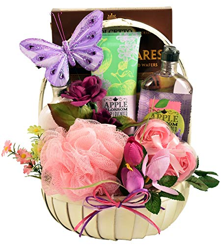 Aroma Therapy Rosemary Peppermint Spa and Gourmet -Women's Birthday, Holiday, or Mother's Day Gift Basket Idea