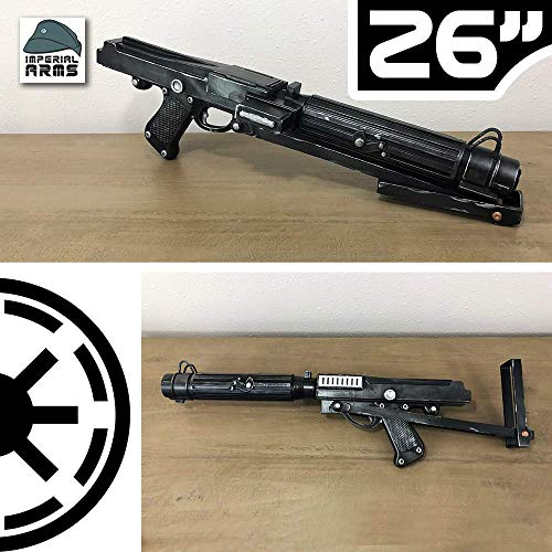 - Custom 26 Inch Designed Clone Wars DC-15s Blaster Rifle Prop With Functioning Stock and Ammo (Safe Does Not Shoot)