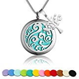 Aromatherapy Essential Oil Diffuser Necklace with 316L Surgical...