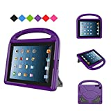 MENZO Kids Case for iPad 2 3 4, Light Weight Shockproof Handle Stand Kids Friendly Case for iPad 2, iPad 3rd Generation, iPad 4th Generation Tablet, Purple