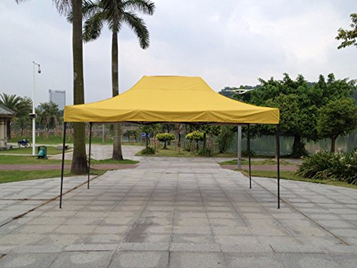 American Phoenix 10×10 10×20 Multi Color and Size Portable Event Canopy Tent, Canopy Tent, Party Tent Gazebo Canopy Commercial Fair Shelter Car Shelter Wedding Party Easy Pop up (10×15, Yellow) For Sale