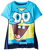 SpongeBob SquarePants Little Boys' Toddler T-Shirt with Cape, Royal, 5T