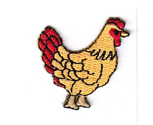 (CHICKEN SMALL HEN FARM BARNYARD Iron On Embroidered Patch)