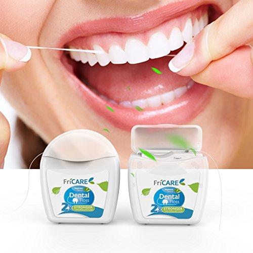 FriCARE Dental Floss Deep Clean, Comfort Mint, 2 Count, 55 Yards (50 Meters)