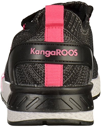 Kangaroos Unisex Adults' W-590 Trainers, Black, 2 Jet Black/Daisy Pink