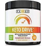 KETO DRIVE BHB Salts - Exogenous Ketone Performance Complex - Formulated for Ketosis, Energy, Focus and Fat Burn - Patented Beta-Hydroxybutyrates (Calcium, Sodium, Magnesium) - Orange Mango