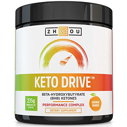 Focus Complex (KETO DRIVE BHB Salts - Exogenous Ketone Performance Complex - Formulated for Ketosis, Energy, Focus and Fat Burn - Patented Beta-Hydroxybutyrates (Calcium, Sodium, Magnesium) - Orange Mango)