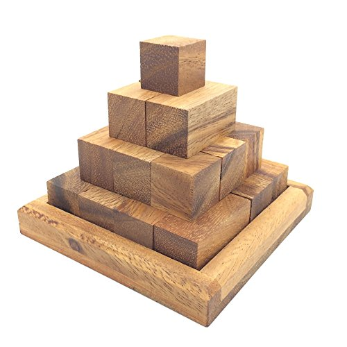 [BRAIN GAMES Pagoda Pyramid Wooden Puzzle] (Kill Bill Costume Ideas)