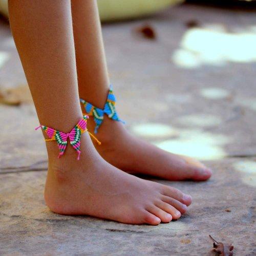 Peppercorn Kids Girls Butterfly Bracelet Anklet Blue