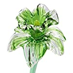 Green-Glass-Daffodil-Flower-One-of-a-kind-Life-Size-20-long-FREE-SHIPPING-to-the-lower-48-when-you-spend-over-3500