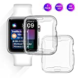 Apple Watch Screen Protector 42mm,AFONE iWatch Accessories Case Compatible Series 2/3,TPU Full-around Protective Cover 0.3mm Ultra-thin HD Clear for Smart Watch,Nike+,Sport,Edition[2 Pack]