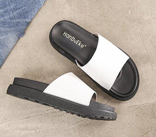 Pantoufles Étudiant Mode Anti Dérapant Chaussures Femmes Été 34 Extérieur Blanc Confort Vert Noir achats DANDANJIE Sandales Printemps Blanc 43 Tongs x0qwIXt5I