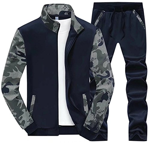 DigerLa Men's Tracksuits Sets Sports Jacket & Pants Jogging Sweat Suits