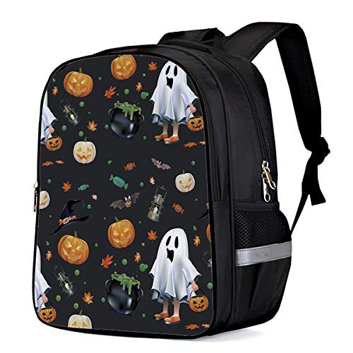Laptop Backpacks for Kids Girls & Boys, Happy Halloween Party Night Ghost Girl College Students School Bags Bookbag Casual Daypack - Lightweight, Water Resistant