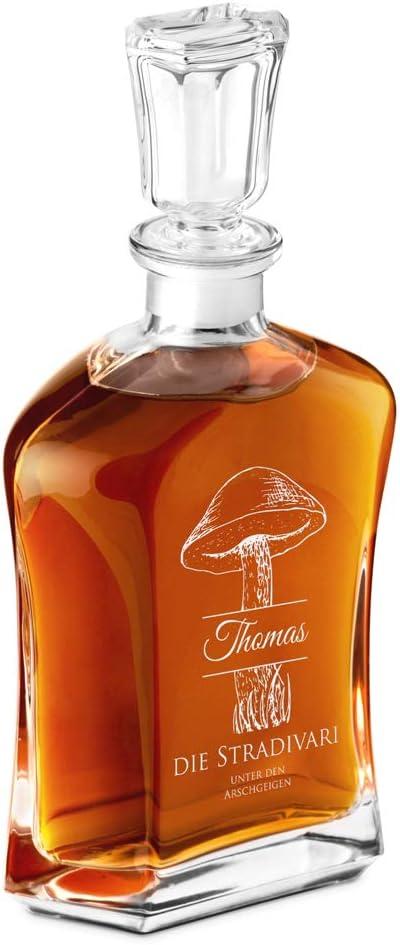 700ml Murrano Whiskey Karaffe 6er Whiskygl/äser Set Geschenk zum Geburtstag f/ür M/änner The Real Gentleman, MIt 6 Gl/äsern mit Gravur Whisky Dekanter
