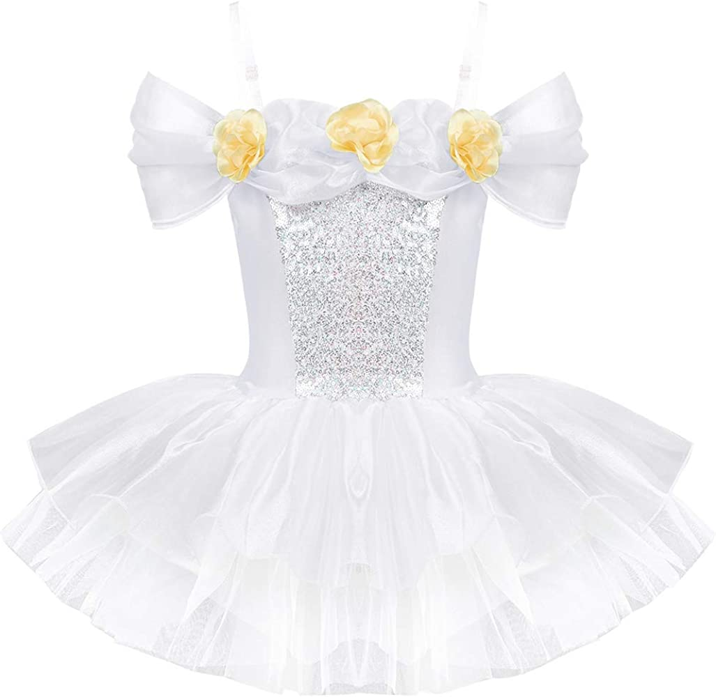 YiZYiF Vestido Ballet Tutú Disfraz Princesa Niñas Maillot Danza ...