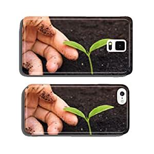 hand tenderly touching a young green plant / growing tree cell phone cover case iPhone6 Plus