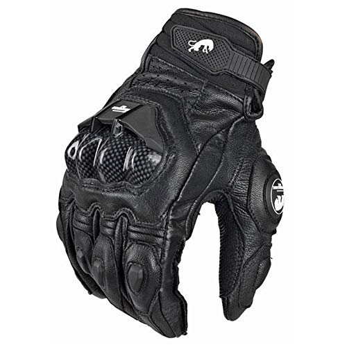 (Gloves - Leather Motocross Racing Glove Motorcycle Gloves Ride Bike Driving Bicycle Cycling Motorbike Sports Moto Racing Gloves - by)