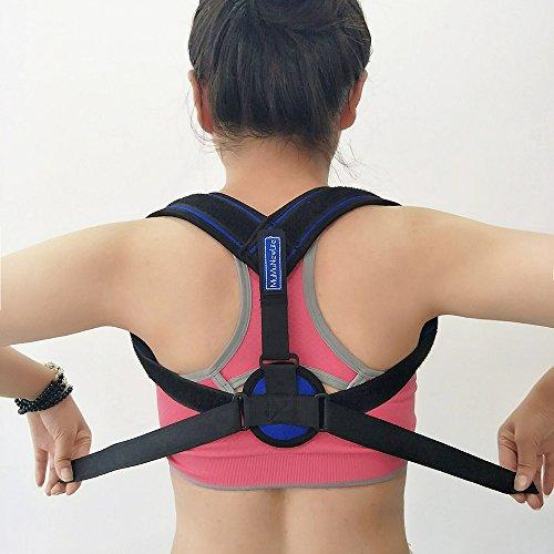 MuMu New Life Back Posture Corrector Adjustable Clavicle Brace Shoulder Posture Support Strap for Daily Work Prevents Slouching