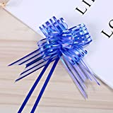 Yuanbbo 10pcs Organza Pull Bow Ribbon,Florist Craft Pull Bows with Ribbon for Gift Wrapping Decoration