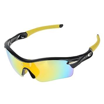 RockBros Ciclismo Gafas de sol polarizadas gafas de sol ultralite gafas con 5 lentes intercambiables protección
