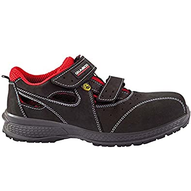 Giasco - Calzado de Protección para Hombre Multicolor Negro/Rojo 43 EU CzRk0m