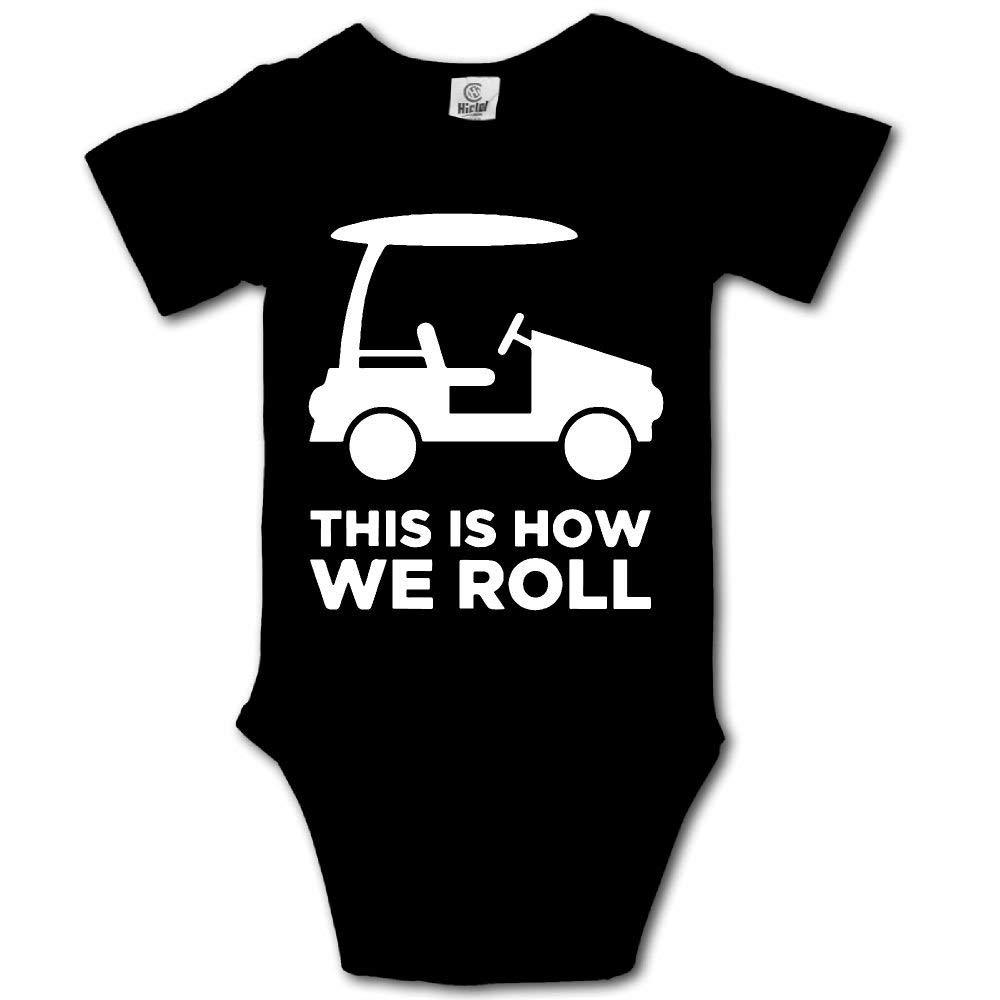 HFJFJSZ This is How We Roll Short Sleeve Baby Bodysuit Onesies