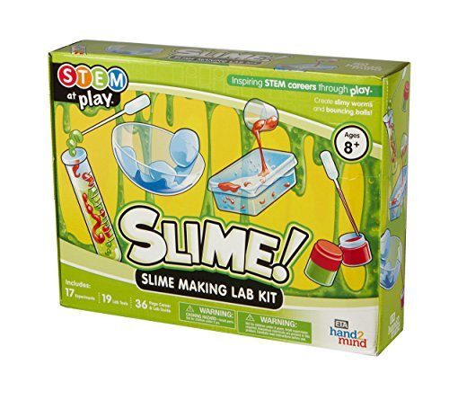 - Slime! Science Slime Making Lab Kit For Kids (Ages 8+) - Build 14 STEM Career Experiments & Activities | Create DIY Slimy Worms, Bouncing Balls, & More! | Educational Toy | STEM Authenticated