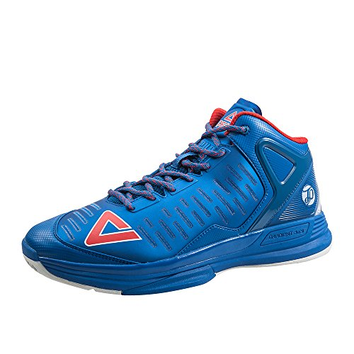 Peak Men's NBA Player Tony Parker Exclusive Signature TP9-II Basketball Shoes Blue/Red Size US9 - Exclusive Horizontal Leather