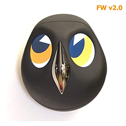Ulo 2.0 Interactive Home Monitoring Owl Wireless Security Camera, Battery Powered Surveillance Camera with Updated Firmware, Black