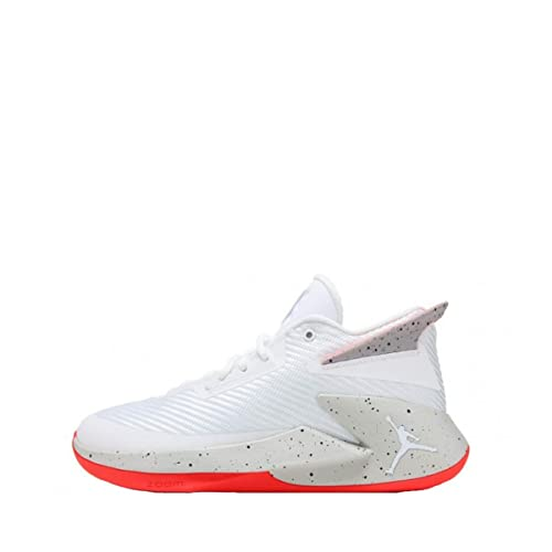 Zapatillas Jordan - Fly Lockdown Blanco/Gris/Rojo Talla: 42,5: Amazon.es: Zapatos y complementos