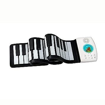 Pianos Teclados Instrumentos Musicales Portátiles Plegables Silicona para Niños Laminados a Mano 49 Teclado Electrónico de