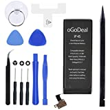 Ogodeal Battery Replacement for Model IP 4S A1431, A1387 with Full Set Repair Tools Kit and Battery Adhesive Stripe and Instructions [365 Days Warranty]