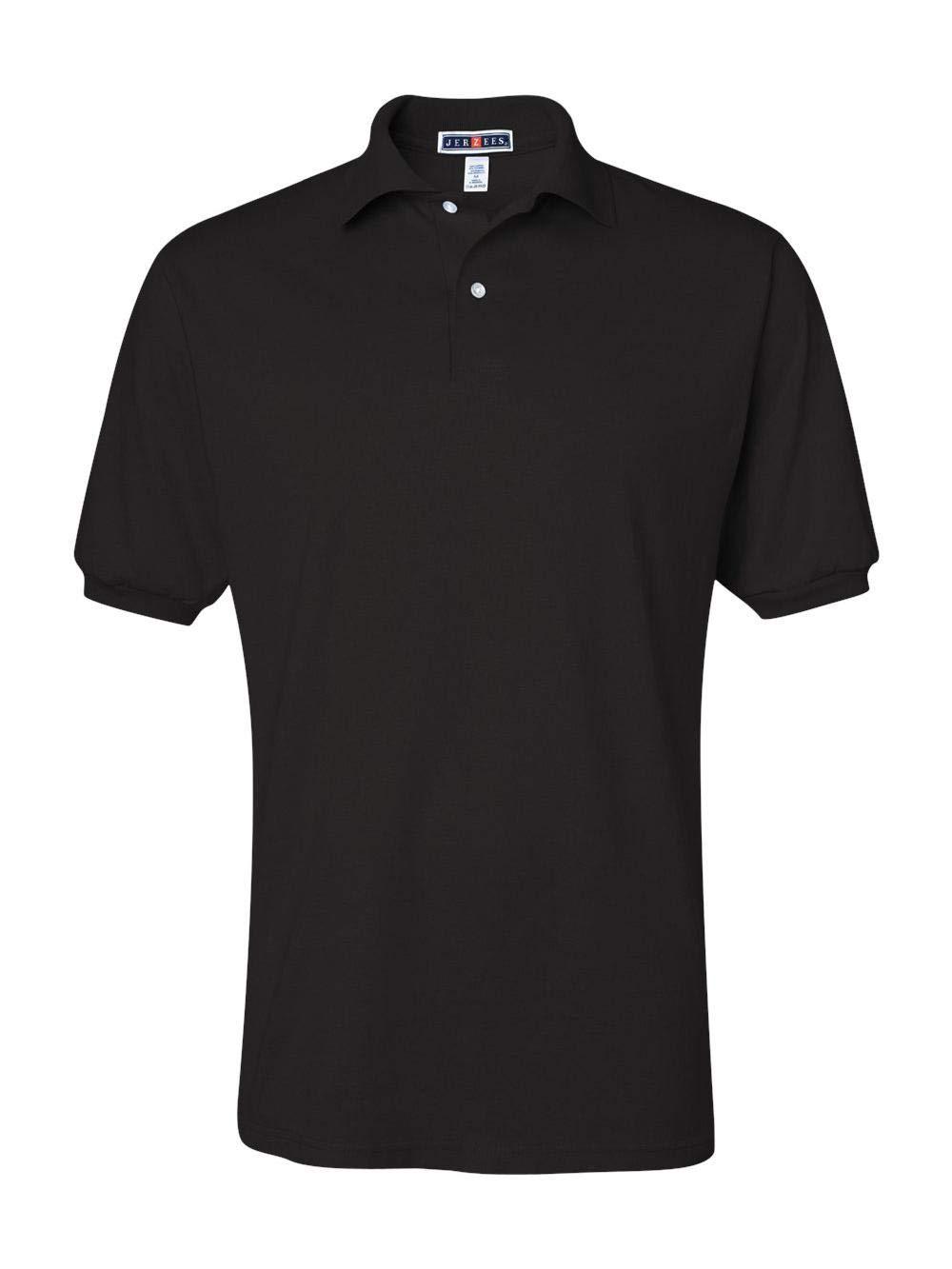 Jerzees Men's Spot Shield Short Sleeve Polo Sport Shirt, Black X-Large by Jerzees (Image #3)