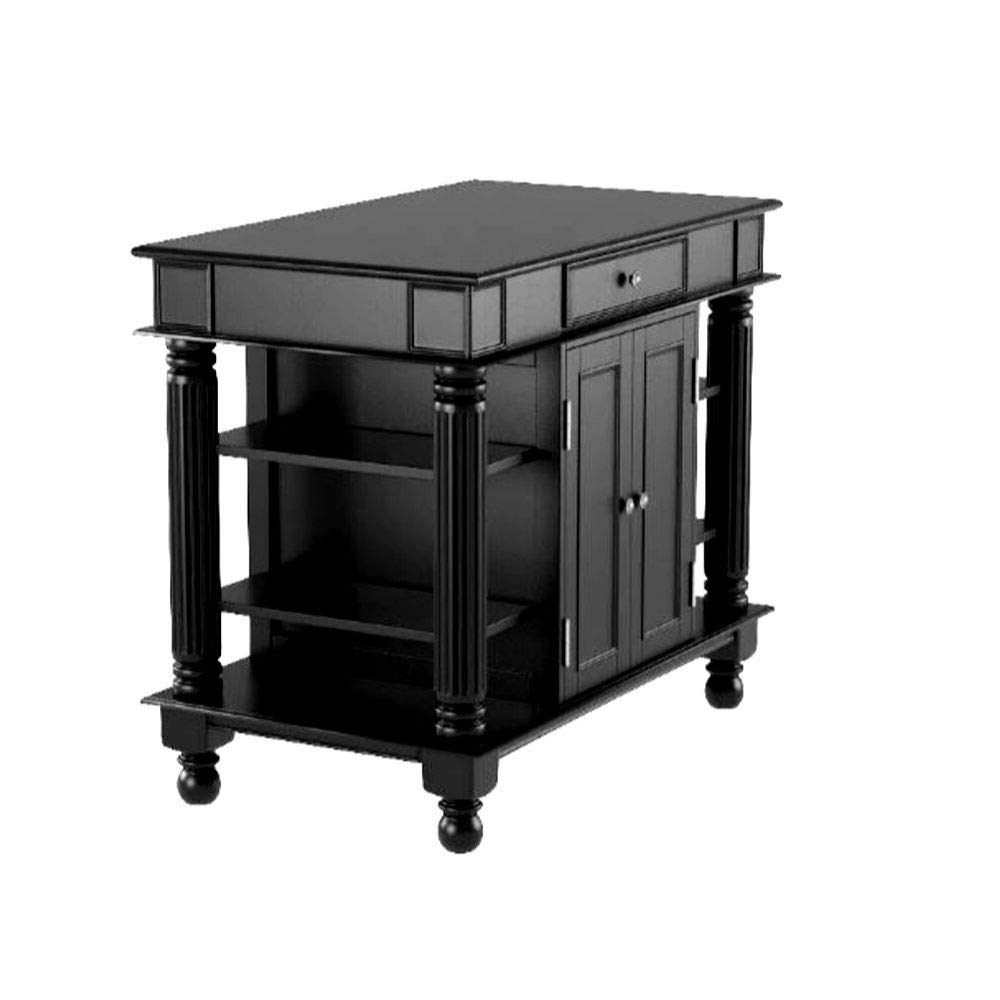 ghy Kitchen Island Table with Storage Black Double Sided Buffet Hardwood Dinner Bakers Two Doors Cabinet Drawer Shelves Farmhouse Style & eBook by JEFSHOP by ghy