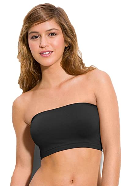a74bd67ddb8 Hollywood Star Fashion Women's Basic Stretch Layer Seamless Tube Bra ...